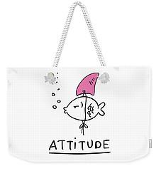 Attitude - Baby Room Nursery Art Poster Print Weekender Tote Bag