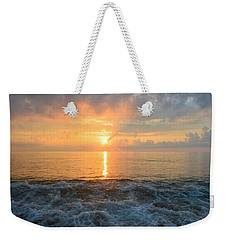 Weekender Tote Bag featuring the photograph August Obx Sunrise by Barbara Ann Bell