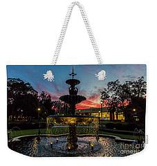 Augusta University Fountain Sunset Ga Weekender Tote Bag