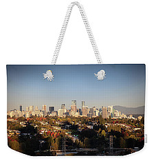 Autumn At The City Weekender Tote Bag