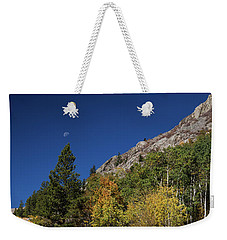 Weekender Tote Bag featuring the photograph Autumn Bella Luna by James BO Insogna