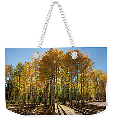 Weekender Tote Bag featuring the digital art Autumn Blaze Outside Of Crested Butte, Colorado.  by OLena Art Brand