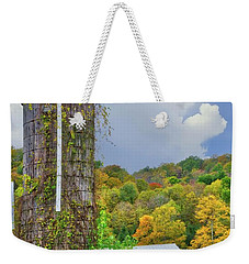 Weekender Tote Bag featuring the photograph Autumn Bliss On The Farm - Finger Lakes, New York by Lynn Bauer