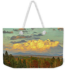 Autumn Clouds Over Maine Weekender Tote Bag
