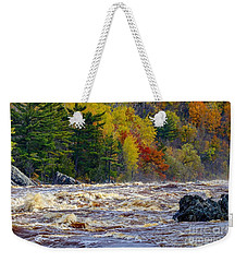 Autumn Colors And Rushing Rapids   Weekender Tote Bag
