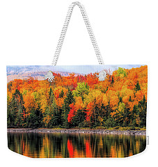 Weekender Tote Bag featuring the photograph Autumn Colors Reflection by Dan Sproul