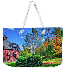 Weekender Tote Bag featuring the photograph Autumn Days On Campus At Cornell University - Ithaca, New York by Lynn Bauer