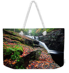 Weekender Tote Bag featuring the photograph Autumn Falling 3 by Bill Wakeley