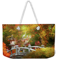 Weekender Tote Bag featuring the photograph Autumn - Finding Inner Peace by Mike Savad