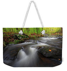 Weekender Tote Bag featuring the photograph Autumn Flow by Bill Wakeley
