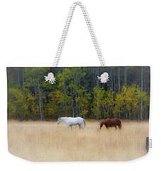 Autumn Horse Meadow Weekender Tote Bag