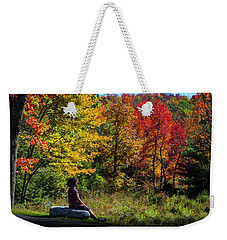 Autumn Leaves In The Catskill Mountains Weekender Tote Bag
