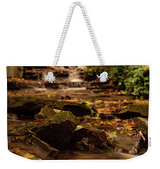 Weekender Tote Bag featuring the photograph Autumn Leaves West Milton Waterfall by Dan Sproul