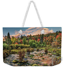Autumn Light Reflections Weekender Tote Bag