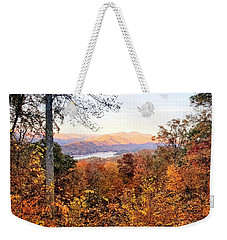 Weekender Tote Bag featuring the photograph Autumn Magic by Rachel Hannah