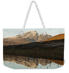 Weekender Tote Bag featuring the photograph Autumn Meets Winter At Blaven by Stephen Taylor