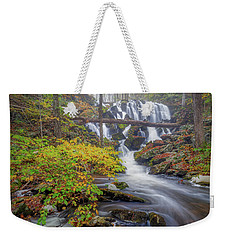 Weekender Tote Bag featuring the photograph Autumn Mist by Bill Wakeley