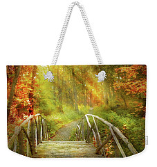Weekender Tote Bag featuring the photograph Autumn - Nice Day For A Walk by Mike Savad