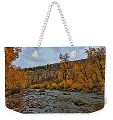Weekender Tote Bag featuring the photograph Autumn On The Yampa River by Dan Miller