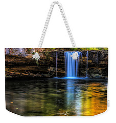 Weekender Tote Bag featuring the photograph Autumn Reflections At Ludlow Falls by Dan Sproul