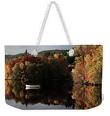 Weekender Tote Bag featuring the photograph Autumn Reflections by Grant Glendinning
