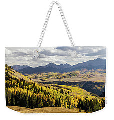 Weekender Tote Bag featuring the photograph Autumn Season View Of Sneffles Ten Peak by James BO Insogna
