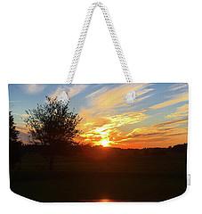 Autumn Sunset Weekender Tote Bag