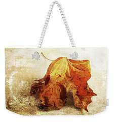 Weekender Tote Bag featuring the photograph Autumn Texture by Randi Grace Nilsberg