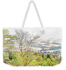 Weekender Tote Bag featuring the photograph Autumn View Pienza by Dorothy Berry-Lound
