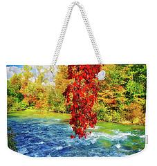 Weekender Tote Bag featuring the photograph Autumn's Flame - Niagara Falls, New York by Lynn Bauer