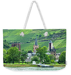 Weekender Tote Bag featuring the photograph Bacharach, Germany, On The Rhine by Kay Brewer