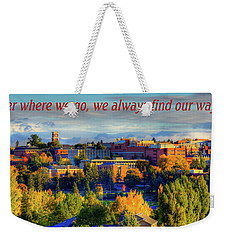 Weekender Tote Bag featuring the photograph Back Home 3 by David Patterson