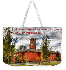 Weekender Tote Bag featuring the photograph Back Home by David Patterson
