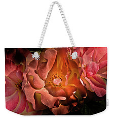 Weekender Tote Bag featuring the photograph Backyard Flowers 40 Color Version by Brian Carson