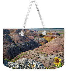 Badlands Sunflower - Vertical Weekender Tote Bag