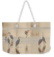 Weekender Tote Bag featuring the photograph Ballet Of The Egrets by Donald Brown