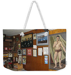 Weekender Tote Bag featuring the painting Ballydehob Recolections by Val Byrne