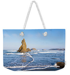 Weekender Tote Bag featuring the photograph Bandon Oregon 103018 by Rospotte Photography