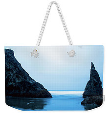 Weekender Tote Bag featuring the photograph Bandon Oregon Blue 101918 by Rospotte Photography