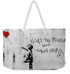 Banksy Balloon Girl Fight The Fighters Weekender Tote Bag