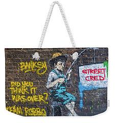Banksy Boy Fishing Street Cred Weekender Tote Bag