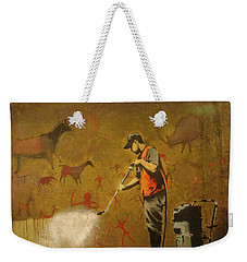 Banksy's Cave Painting Cleaner Weekender Tote Bag