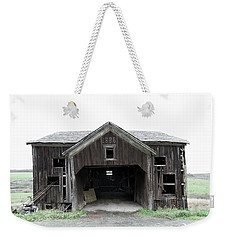 Weekender Tote Bag featuring the photograph Barn 1886, Old Barn In Walton, Ny by Gary Heller