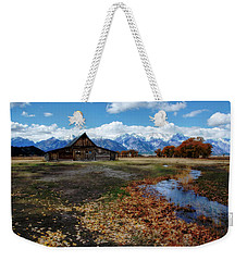 Weekender Tote Bag featuring the photograph Barn On Mormon Row by Scott Read