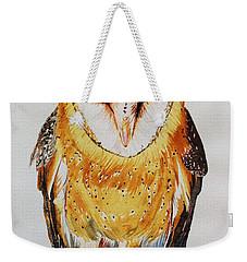 Barn Owl Drip Weekender Tote Bag
