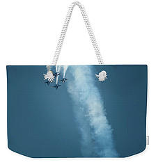 Weekender Tote Bag featuring the photograph Barrel Roll by Mark Duehmig