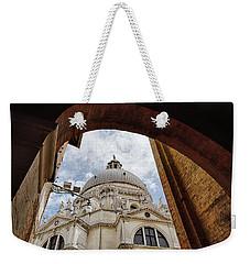 Weekender Tote Bag featuring the photograph Basilica Di Santa Maria Della Salute Venice Italy by Nathan Bush