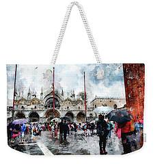 Basilica Of Saint Mark In Venice With Watercolor Look Weekender Tote Bag