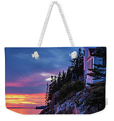 Bass Harbor Head Lighthouse At Twilight Weekender Tote Bag