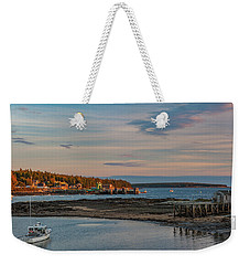 Bass Harbor Sunset Weekender Tote Bag